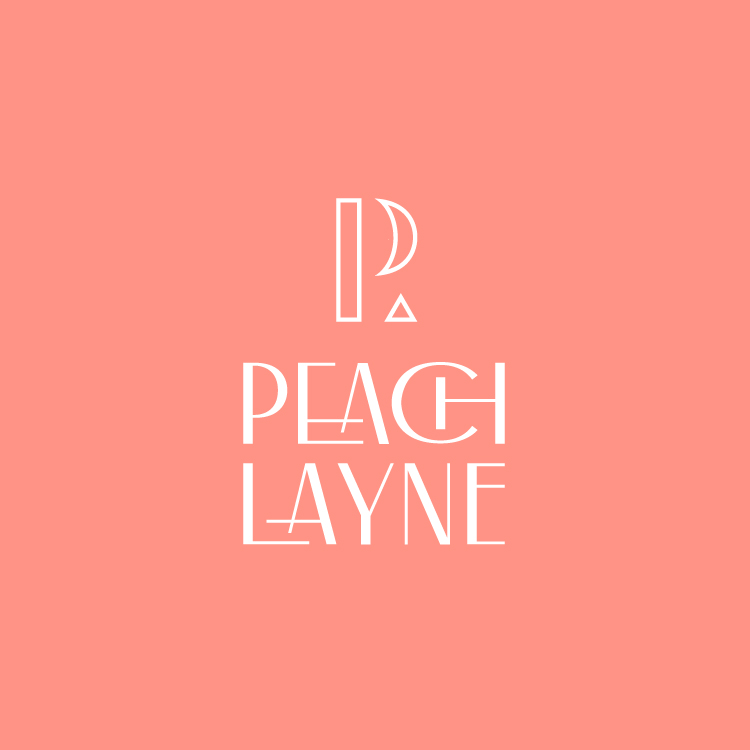 Peach Layne Logo for Marijuana and CBD brand from Little Rock Arkansas—by Hunter Oden of oden.house