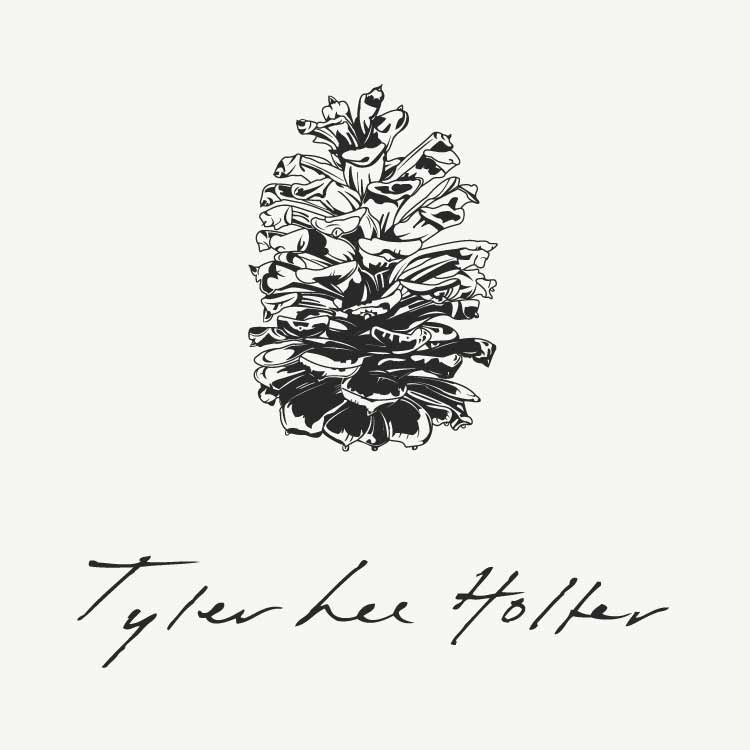 Tyler Lee Holter pinecone logo for EP—by Hunter Oden of oden.house